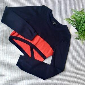 Dance & Marvel Cropped Long Sleeve Sweater Sz M/L
